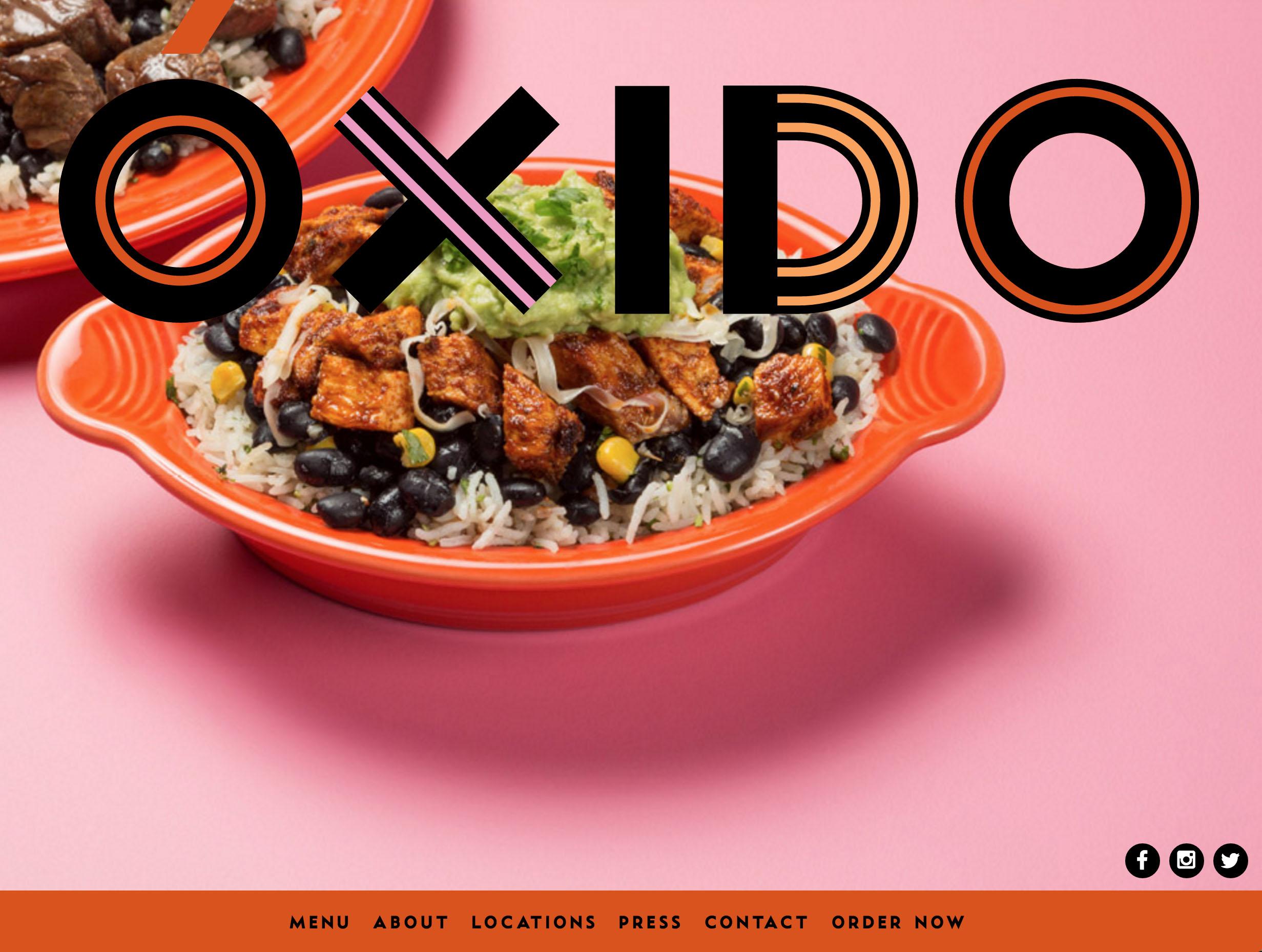 Oxido logo and website designed by Scissor.