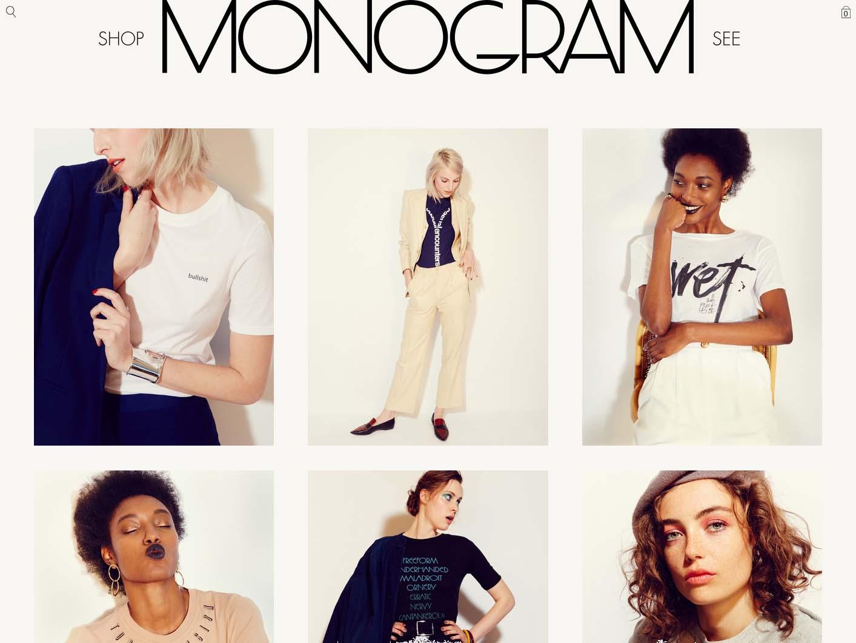 Monogram website design by Scissor.